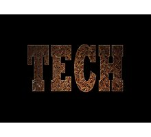 Tech (Rust) Photographic Print
