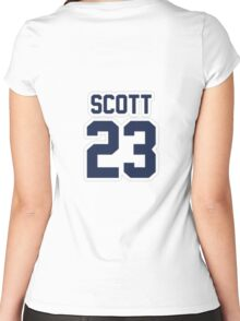 Nathan Scott Jersey Number Women's Fitted Scoop T-Shirt