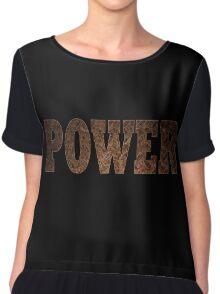 Power (Rust) Chiffon Top