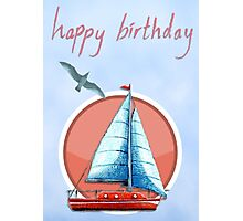 Yacht birthday card Photographic Print