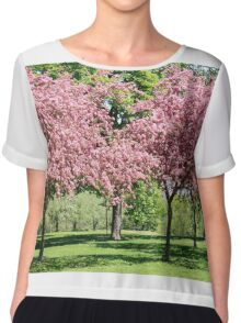 Blooming Cherry Garden. Chiffon Top
