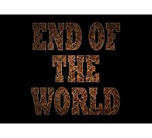 End Of The World (Rust) Photographic Print
