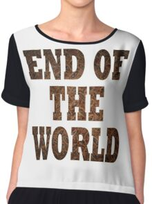 End Of The World (Rust) Chiffon Top