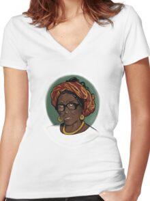 Oyinkansola Abayomi Women's Fitted V-Neck T-Shirt