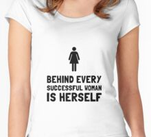 Successful Woman Women's Fitted Scoop T-Shirt