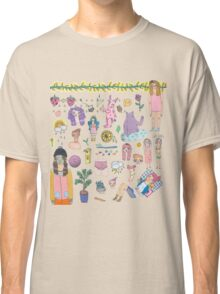 I Love Colourful Animal Erasers (clear background) Classic T-Shirt