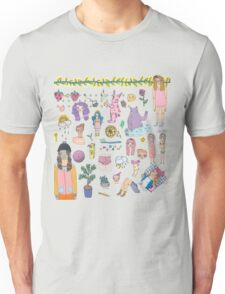 I Love Colourful Animal Erasers (clear background) Unisex T-Shirt