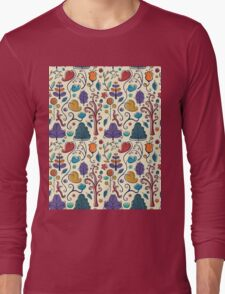 Plant Pattern Color  Long Sleeve T-Shirt