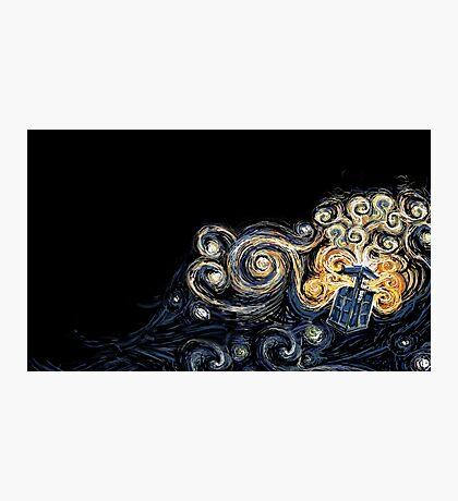 Doctor Who- Van Gogh Tardis Photographic Print