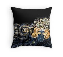 Doctor Who- Van Gogh Tardis Throw Pillow