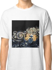 Doctor Who- Van Gogh Tardis Classic T-Shirt