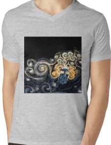 Doctor Who- Van Gogh Tardis Mens V-Neck T-Shirt