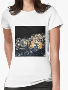 Doctor Who- Van Gogh Tardis Womens Fitted T-Shirt