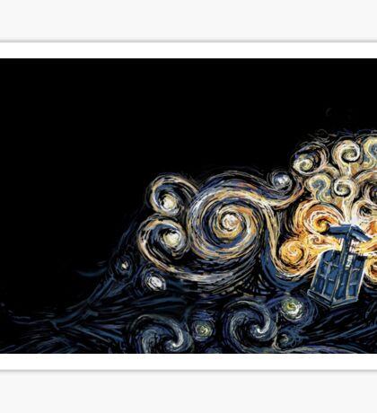 Doctor Who- Van Gogh Tardis Sticker