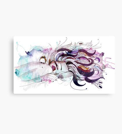 crazy hair Canvas Print