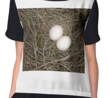 Pigeon eggs. Chiffon Top
