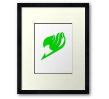 Fairy Tail Logo (Green) Framed Print
