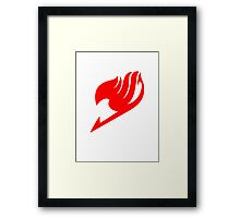 Fairy Tail Logo (Red) Framed Print