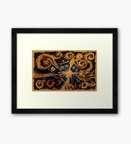 Doctor Who- Van Gogh Exploding Tardis Framed Print