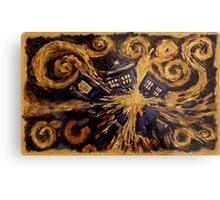 Doctor Who- Van Gogh Exploding Tardis Metal Print