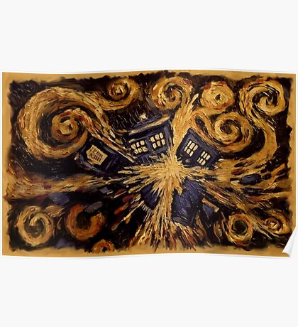 Doctor Who- Van Gogh Exploding Tardis Poster