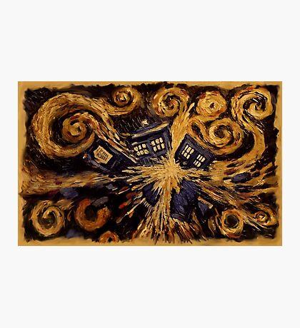 Doctor Who- Van Gogh Exploding Tardis Photographic Print