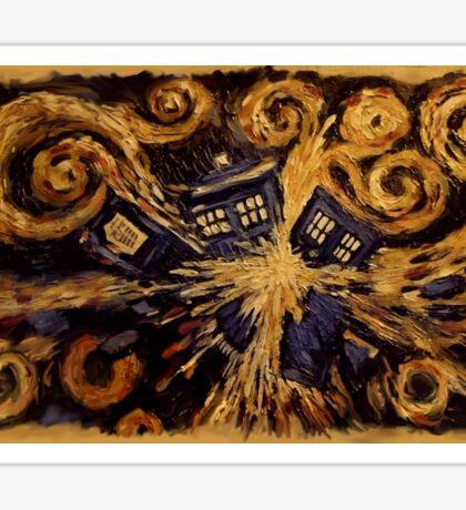 Doctor Who- Van Gogh Exploding Tardis Sticker
