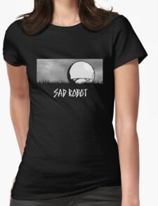 Sad Robot Womens Fitted T-Shirt