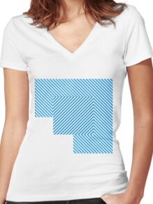 To Block The Color Blocks Women's Fitted V-Neck T-Shirt
