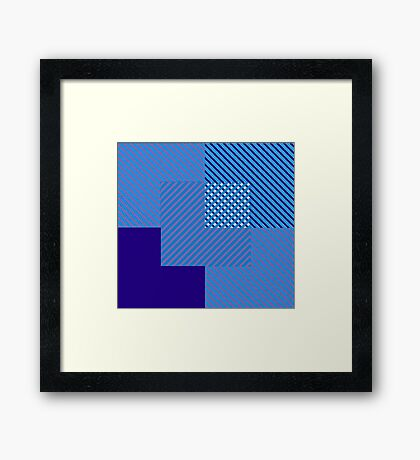 To Block The Color Blocks Framed Print