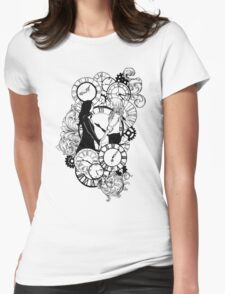 Time Led Me To You (Line Art Version) Womens Fitted T-Shirt