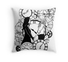 Time Led Me To You (Line Art Version) Throw Pillow