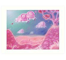 Heart Land Art Print