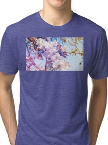 Cherry flowers Tri-blend T-Shirt