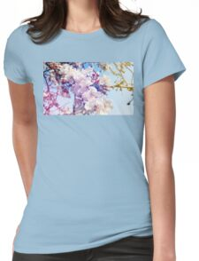 Cherry flowers Womens Fitted T-Shirt