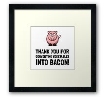 Vegetables Bacon Framed Print
