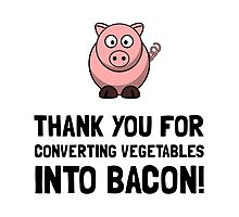 Vegetables Bacon Photographic Print