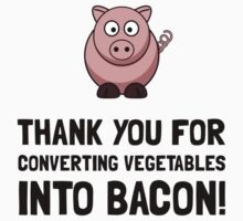 Vegetables Bacon Baby Tee