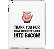 Vegetables Bacon iPad Case/Skin