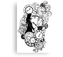 Time Led Me To You (Line Art Version) Metal Print