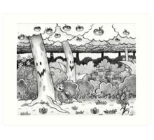 Forest of Illusion Drawing Art Print