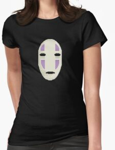 No Face in pixel art Womens Fitted T-Shirt