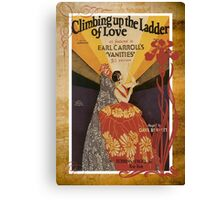 Climbing Ladder Of Love Sheet Music Flamenco Canvas Print