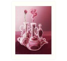 Cartoon Glass Still Life Art Print