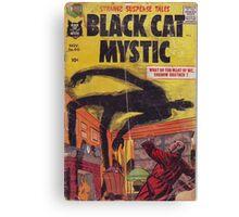 Black cat mystic Canvas Print