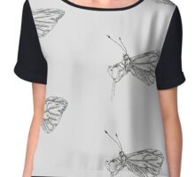 Delicate butterfly Chiffon Top