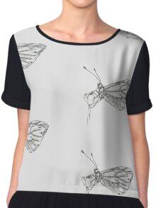 Delicate butterfly Chiffon Top