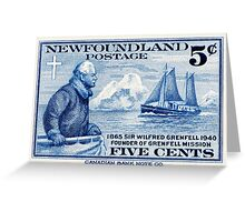 Newfoundland postage stamp, 1940, Sir Wilfred Grenfell Greeting Card