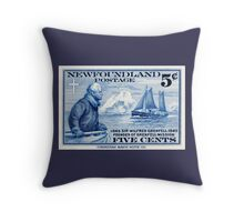 Newfoundland postage stamp, 1940, Sir Wilfred Grenfell Throw Pillow
