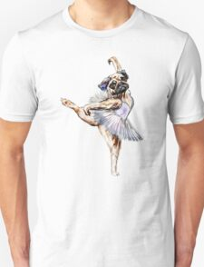 Pug Ballerina Colorful T-Shirt